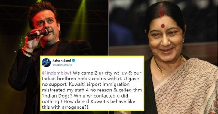 Bollywood singer Adnan Sami recently claimed that his staff were misbehaved with at the Kuwait airpo
