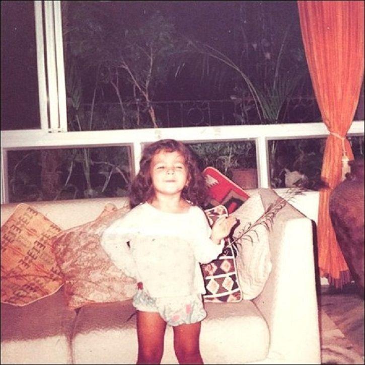 Childhood picture of Alia Bhatt.