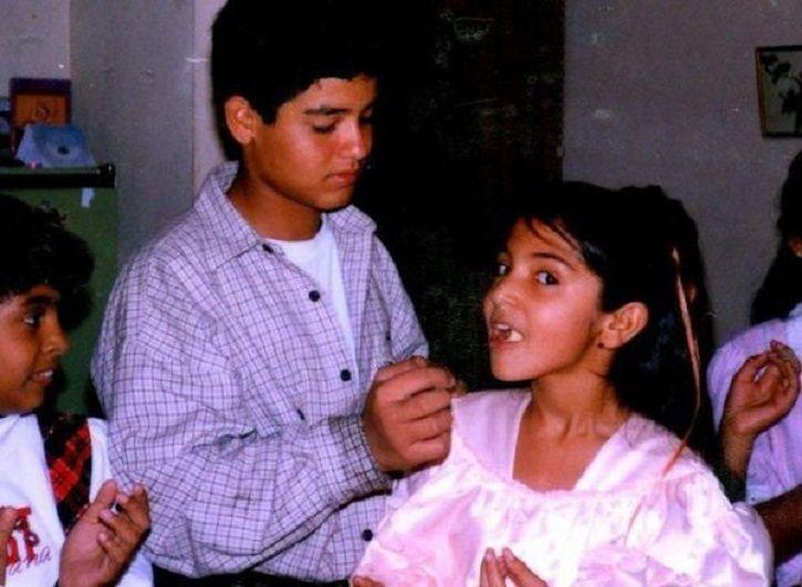Childhood picture of Anushka Sharma.