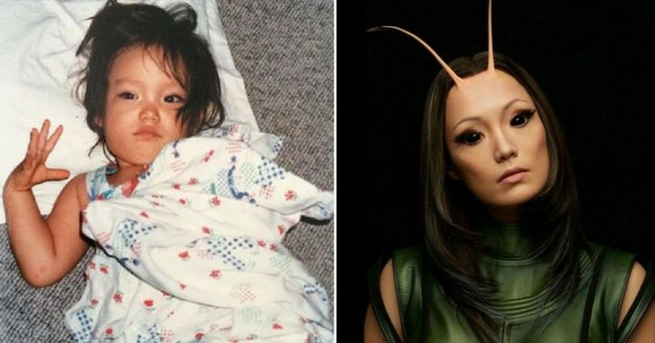 Childhood picture of Avengers cast Mantis AKA Pom Klementieff