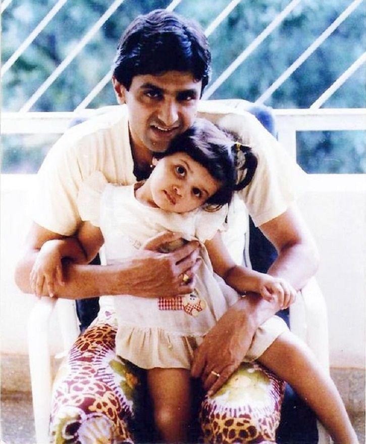Childhood picture of Deepika Padukone