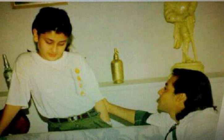 Childhood picture of Kareena Kapoor Khan and Salman Khan