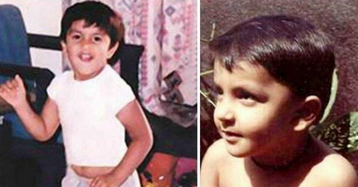 Childhood picture of Ranveer Singh.