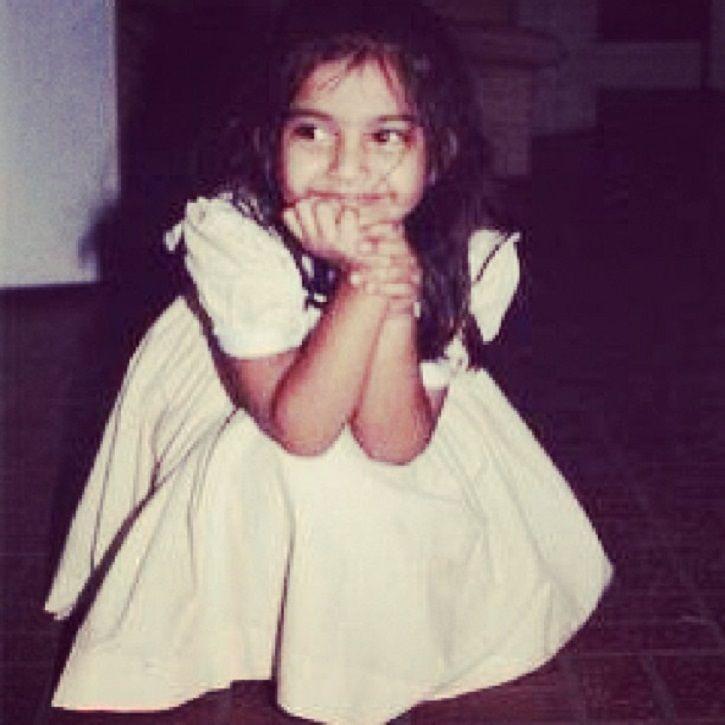 Childhood picture of Sonam Kapoor.
