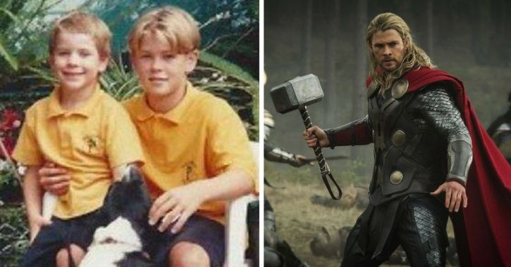 Childhood pictures of Avengers cast. Here