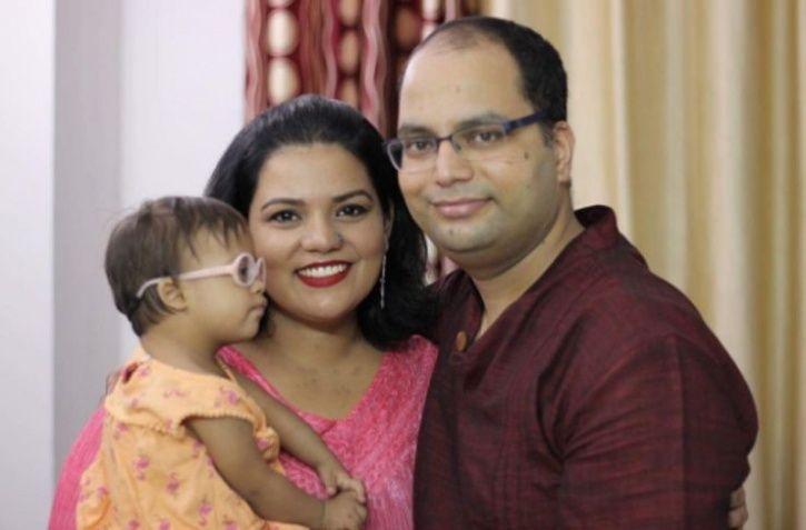 Kavita Baluni and Himanshu Kakatwan along with their daughter Veda