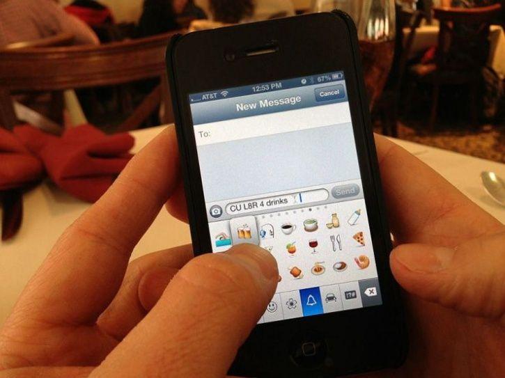 Lack of emoji in texts