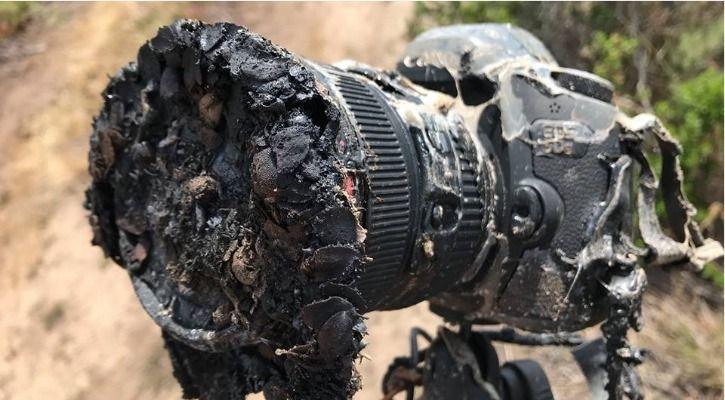 melted camera