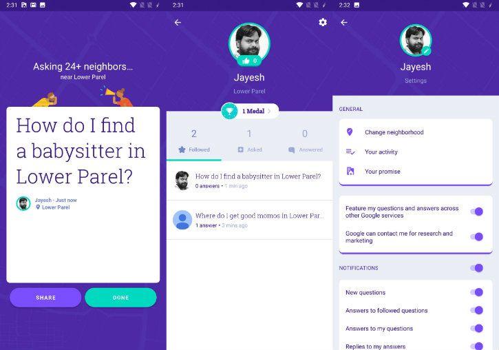 neighbourly google app hyperlocal