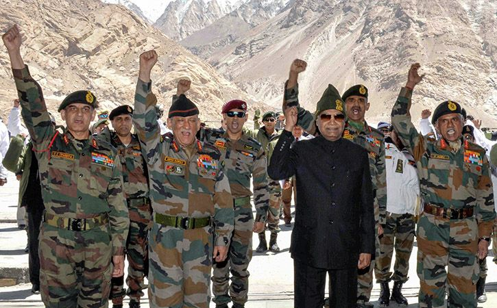 President Ram Nath Kovind today visited the Army base camp in Siachen