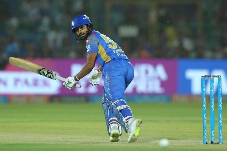 Rahul Tripathi was not shy to give the ball a good bash