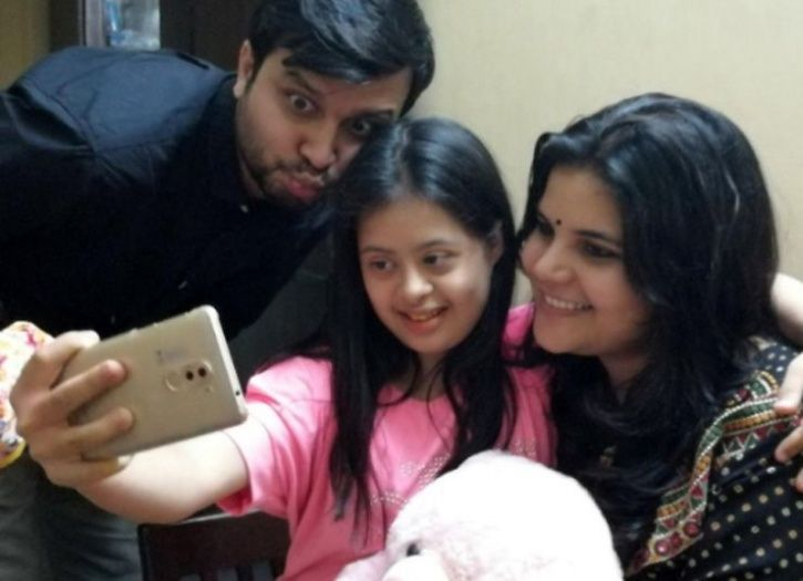 Ranjan Sharma along with her daughter Vilina and his wife
