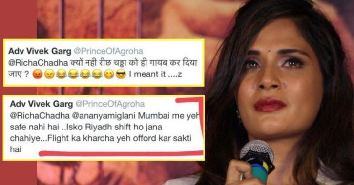 Richa Chadha Fires Back After Getting Rape & Murder Threat For Her Remark and sonam kapoor