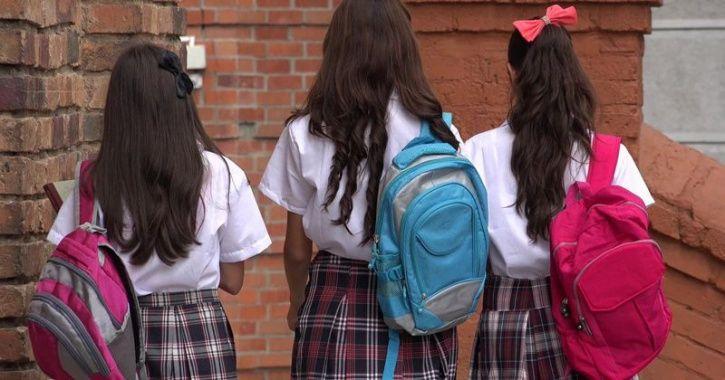 School girl during periods