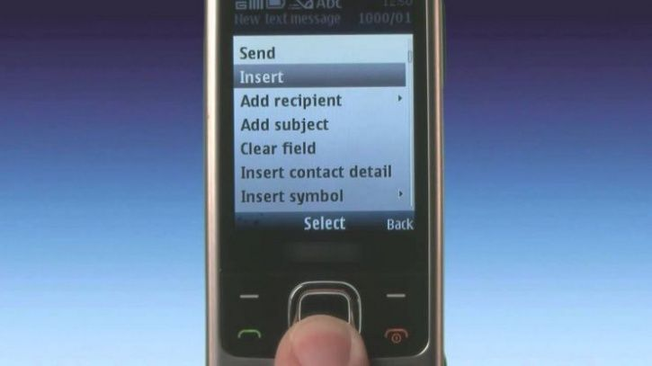 Sending an SMS without predictive text