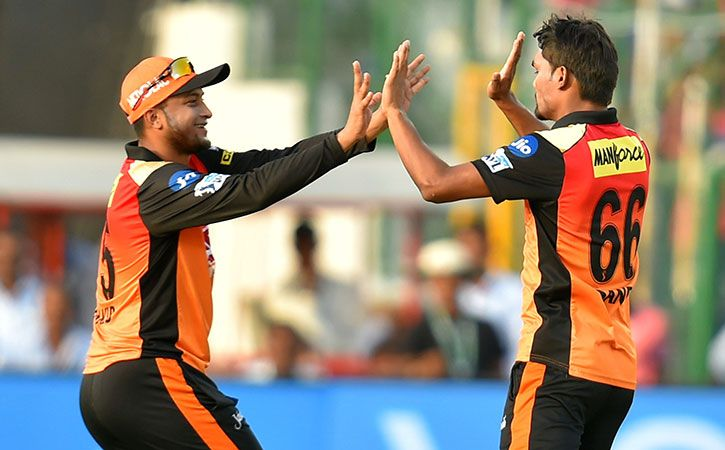 Sunrisers Hyderabad Player Celebrating After Taking Wicket