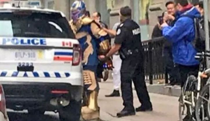 Thanos arrested