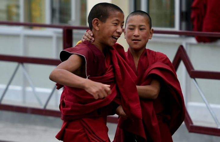 Trained Monks In China