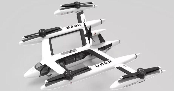 uber flying taxi prototype