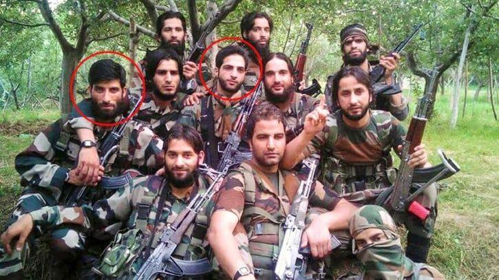 Viral Image Of Burhan Wani And His Friends