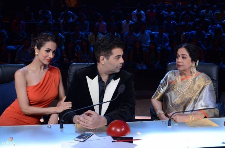 A picture of Karan Johar, Malaika Arora and Kirron Kher from India