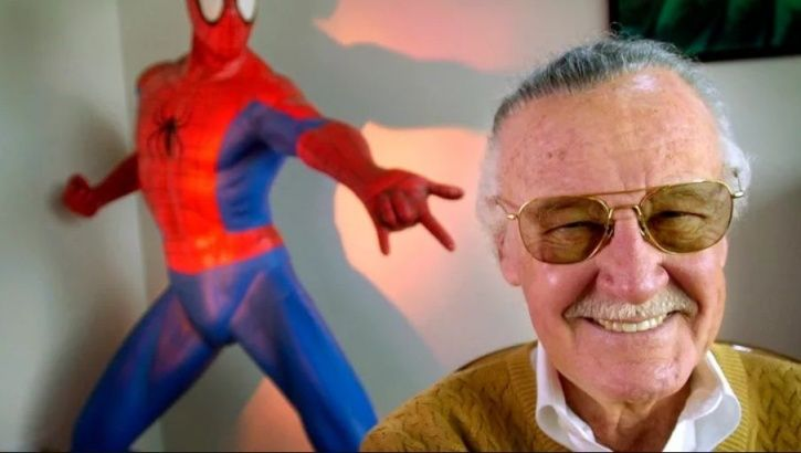 A picture of Marvel legend and superheroes creator Stan Lee.