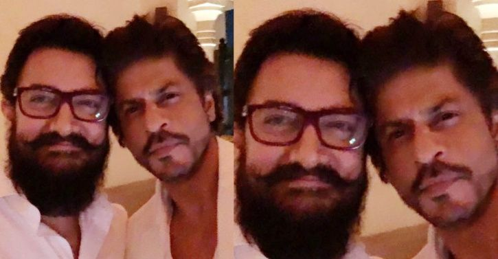 A picture of Shah Rukh Khan and Aamir Khan.