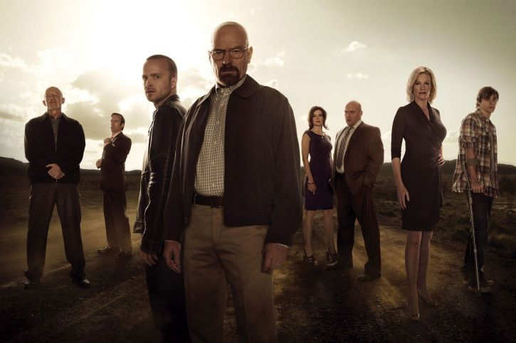 A picture of the cast of Breaking Bad.