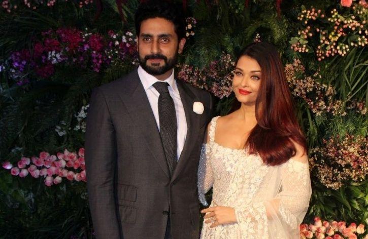 Abhishek Bachchan poses with wife Aishwarya Rai Bachchan.