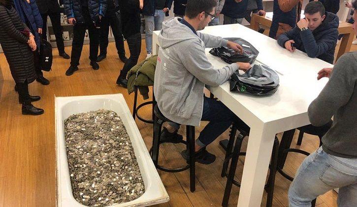 bathtub of coins