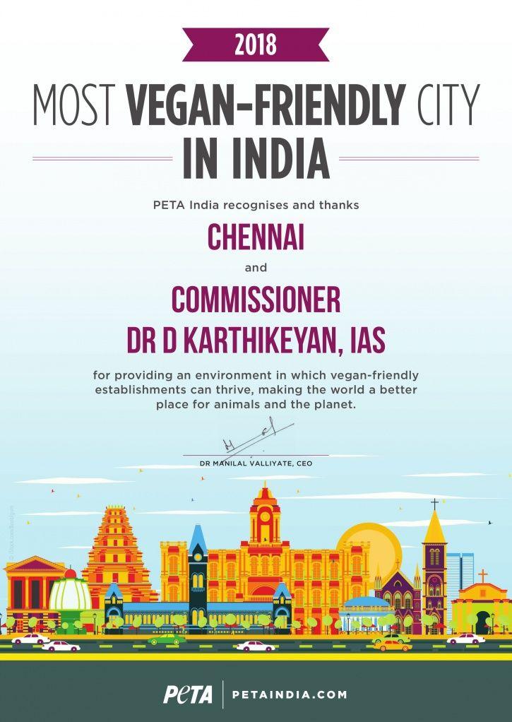 Chennai, Most Vegan City 2018, Tamil Nadu, eco-friendly, lifestyle, PETA, school, stores