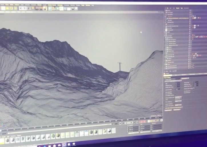 cinema 4D mountain vista fly by intel core i9-9900k