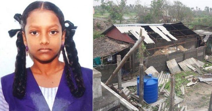 Vijaya alias Vijayalakshmi who was killed in wall collapse due to cyclone Gaja
