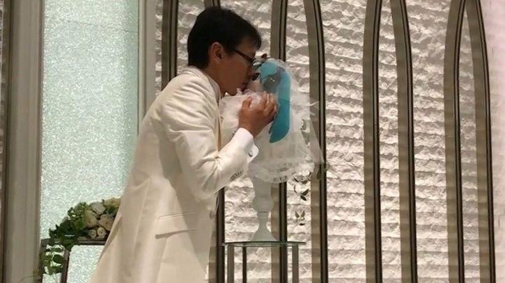Japanese man marries hologram