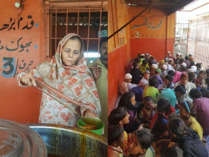 Karachi, woman feeds 1000 people, khana ghar