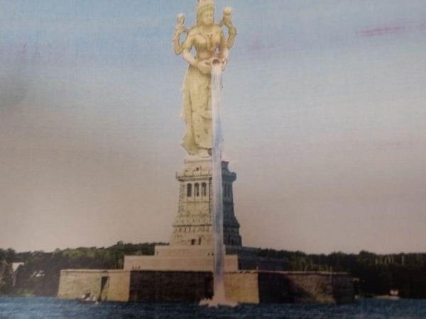 Karnataka, Mother cauvery, 350 feet tall statue, Mysore, Krishnaraja reservoir