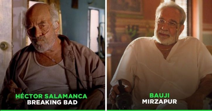 Kulbhushan Kharbanda AKA Bauji In Mirzapur Has A Lot Of Similarities with Hector Salamanca From Brea