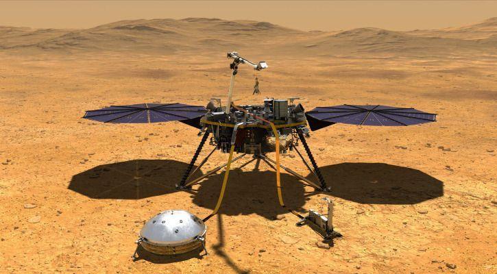 nasa mars insight lander rover