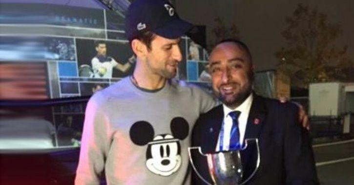 Novak Djokovic and Trevor Bayliss