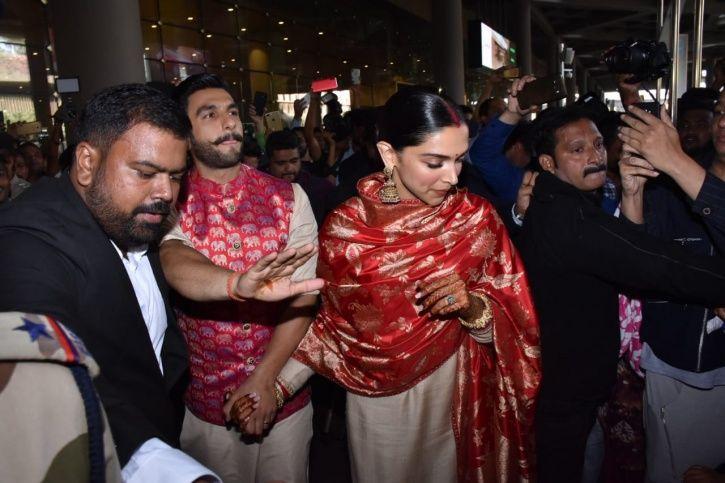 Ranveer Singh & Deepika Padukone Land In India As Married Couple