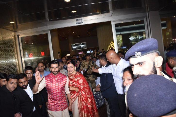 Ranveer Singh & Deepika Padukone Land In Mumbai, India As Married Couple