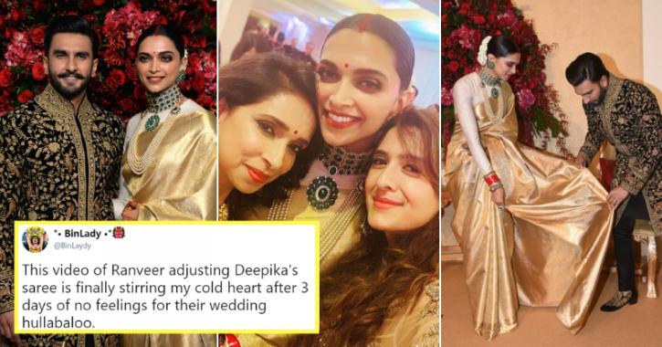 Ranveer Singh and Deepika Padukone at their Bengaluru reception.