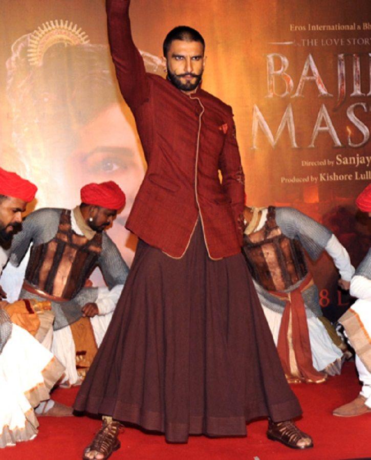 Ranveer Singh in a ghaghra/skirt.