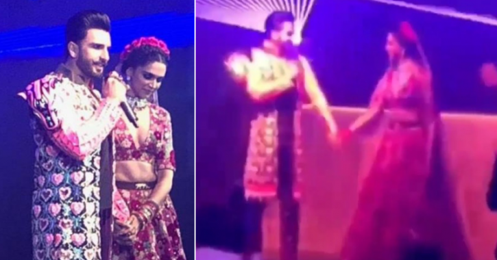 Ranveer Singh Introduces Wife Deepika Padukone As Most Beautiful Girl In The World at wedding party.