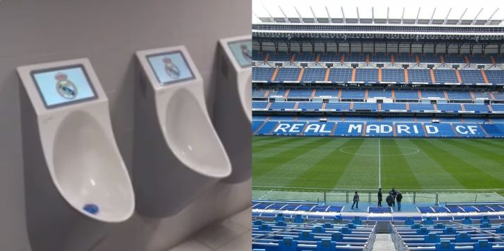 Real Madrid have installed TV screens on urinals