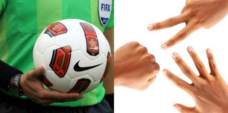Referee gets suspended for starting a game with rock, paper and scissors