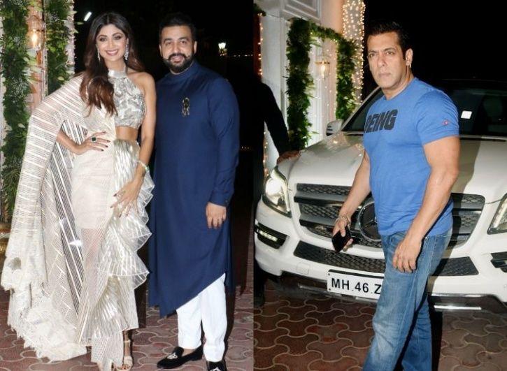 Salman Khan at Shilpa Shetty