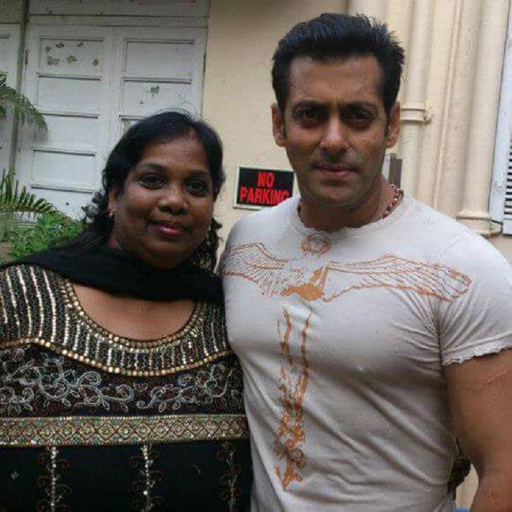 Salman Khan with Bollywood choreographer Agnes Hamilton who