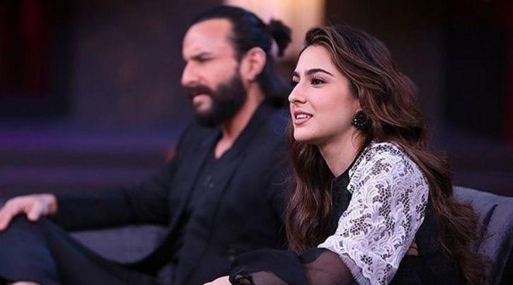 Sara Ali Khan and Saif Ali Khan on Karan Johar