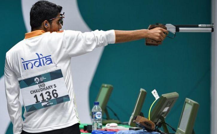 saurabh chaudhary claims gold at asian airgun championships